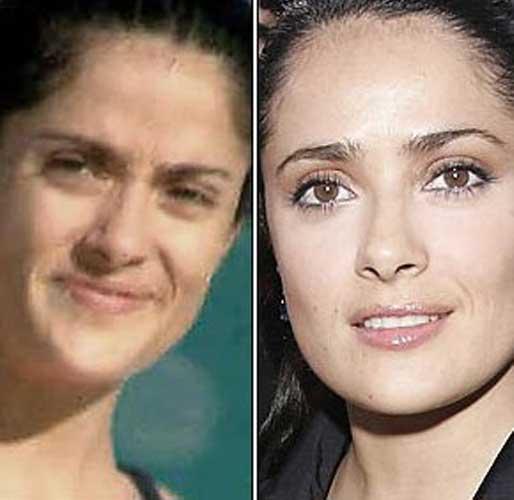 Salma Hayek nose job